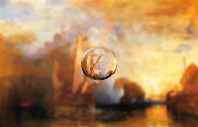 Desert Island Digital Art - Sphere 11 Turner by David Bridburg