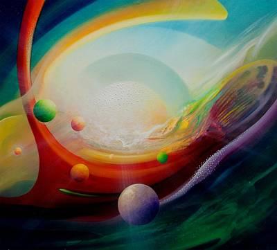 Inner Light Painting - Sphere Q2 by Drazen Pavlovic