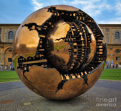 Round Building Photograph - Sphere Within Sphere by Inge Johnsson