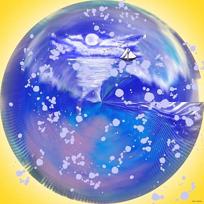 Abstract Art Painting - Spherical Journey  by Gina Nicolae Johnson