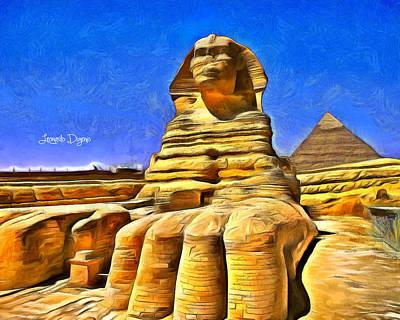 Human Digital Art - Sphinx  - Van Gogh Style -  - Da by Leonardo Digenio