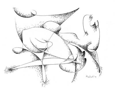 Spider Drawing - Spider by Dave Martsolf