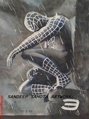 Orlando Bloom Drawing - Spiderman by Sandeep Kumar Sahota