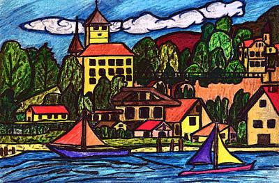 Based On Spiez Switzerland Original by Monica Engeler