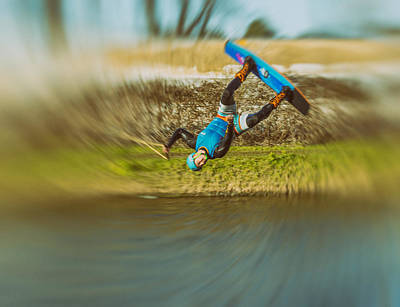 Wakeboarding Photograph - Spin by Angela Aird