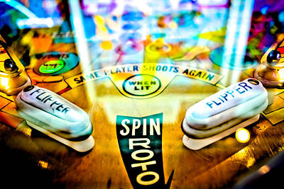 Spin Roto - Pinball Machine Print by Colleen Kammerer
