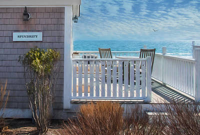 Rocking Chairs Photograph - Spindrift by Robin-lee Vieira
