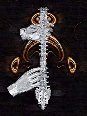 Physiotherapist Digital Art - Spine - Instrument Of Life by Joseph Ventura