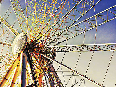 Funfair Photograph - Spinning High by Tom Gowanlock