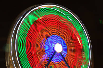 Carnival Victory Photograph - Spinning Wheels by James BO  Insogna
