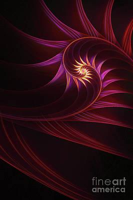 Apophysis Digital Art - Spira Mirabilis by John Edwards