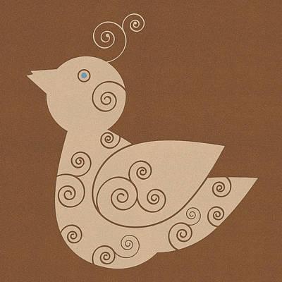 Spiral Bird Print by Frank Tschakert