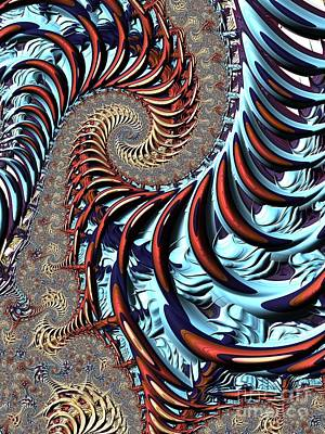 Mysterious Digital Art - Spiral Cage by John Edwards
