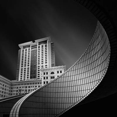 Grid Photograph - Spiral City by Mohammad Rafiee