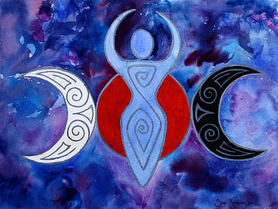 Wicca Painting - Spiral Goddess by Sue Redding
