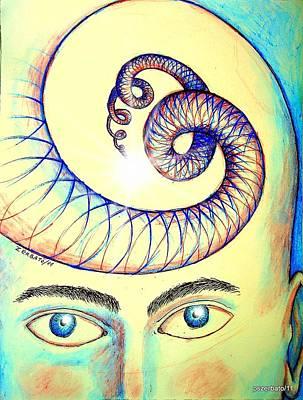 Spiral Of Knowledge Print by Paulo Zerbato