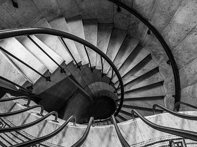Round Building Photograph - Spiral Staircase by Dale Kincaid
