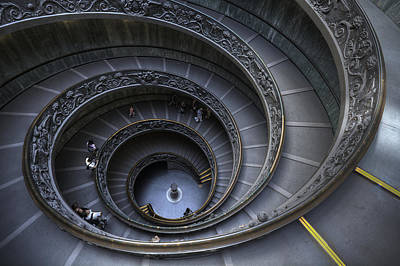 People Photograph - Spiral Staircase by Maico Presente