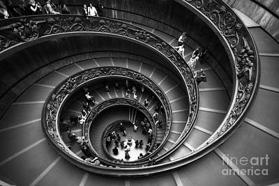 Spiral Stairs Horizontal Print by Stefano Senise
