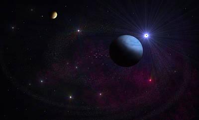 Solar Eclipse Digital Art - Spiral Universe by Ricky Haug