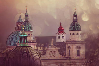 European City Photograph - Spires Of Salzburg  by Carol Japp