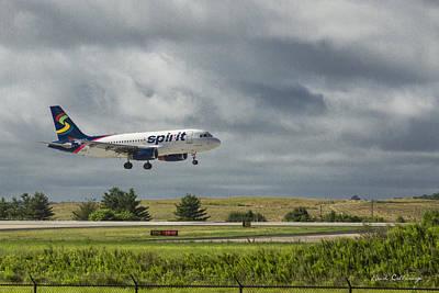 319 Photograph - Spirit Airlines Airbus 319 N515nk Hartsfield-jackson International Atlanta Airport by Reid Callaway