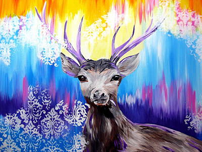 Wall Hanging Drawing - Spirit Animal by Cathy Jacobs