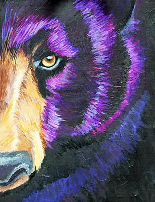 Great Smokey Mountains Painting - Spirit Bear by Candice Caldwell Day