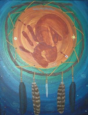 Dreamcatcher Painting - Spirit Connections by Karen Giles