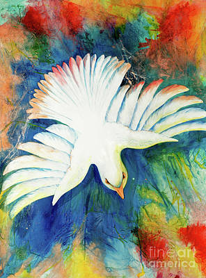 Holy Ghost Painting - Spirit Fire by Nancy Cupp