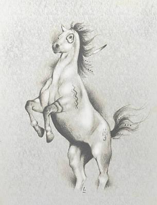 Chicano Art Mixed Media - Spirit Horse by Robert Martinez