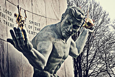 Monuments Photograph - Spirit Of Detroit by Alanna Pfeffer
