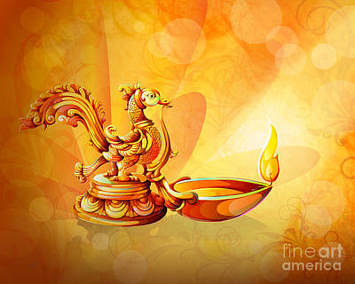 Fireworks Mixed Media - Spirit Of Diwali by Bedros Awak