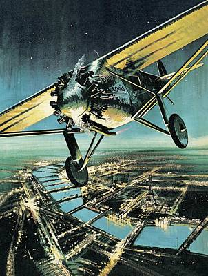 Aviator Drawing - Spirit Of St Louis by Wilf Hardy