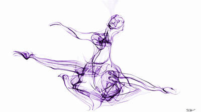 Abstract Movement Drawing - Spirit Of The Dance by Abstract Angel Artist Stephen K