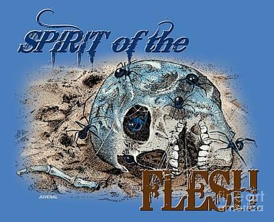 Spirit Of The Flesh Print by Joseph Juvenal