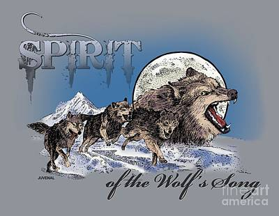 Spirit Of The Wolf's Song Print by Joseph Juvenal