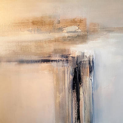 Abstract Painting - Spirit Trail by Elwira Pioro