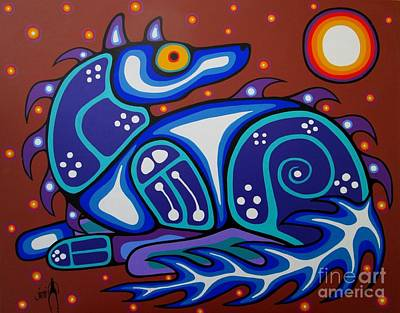 Spirit Wolf Print by Jim Oskineegish