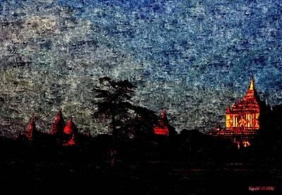 Spiritual Bagan Of Burma Print by Tilaka-siri Dharmakirti