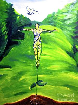 Soaring Painting - Spiritual Growth by Mary Cullen