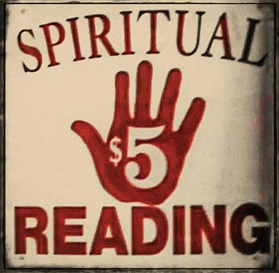 Gypsy Digital Art - Spiritual Reading by Bill Cannon
