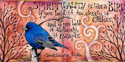 Bunting Mixed Media - Spirituality by Vickie Hallmark