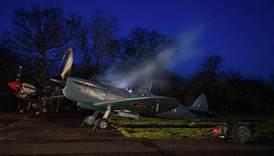 Spitfire Mkxi Print by Nigel Jones