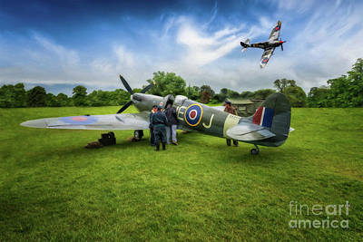 Spitfire Parade Print by Adrian Evans