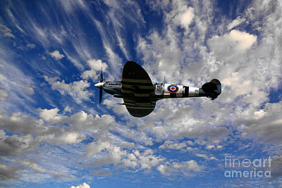 Spitfire Photograph - Spitfire Skies by Stephen Smith