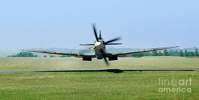 Supermarine Photograph - Spitfire Surprise   Close Up by Martin At Gemini Pictures
