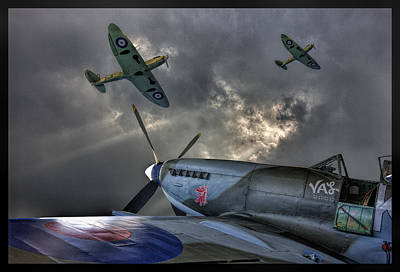 Ww11 Aircraft Photograph - Spitfires    by Thanet Photos