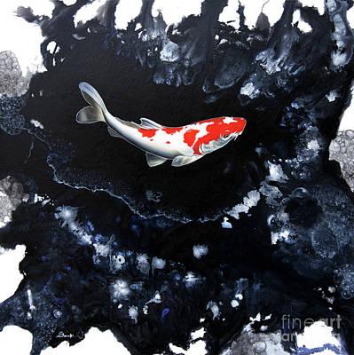 Cosmic Space Painting - Splash 2 by Sandi Baker