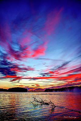 Splash Of Color Sugar Creek Sunrise Lake Oconee Georgia Print by Reid Callaway